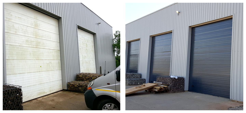 Surprising peindre une porte de garage contemporary best - Penture de porte de garage ...